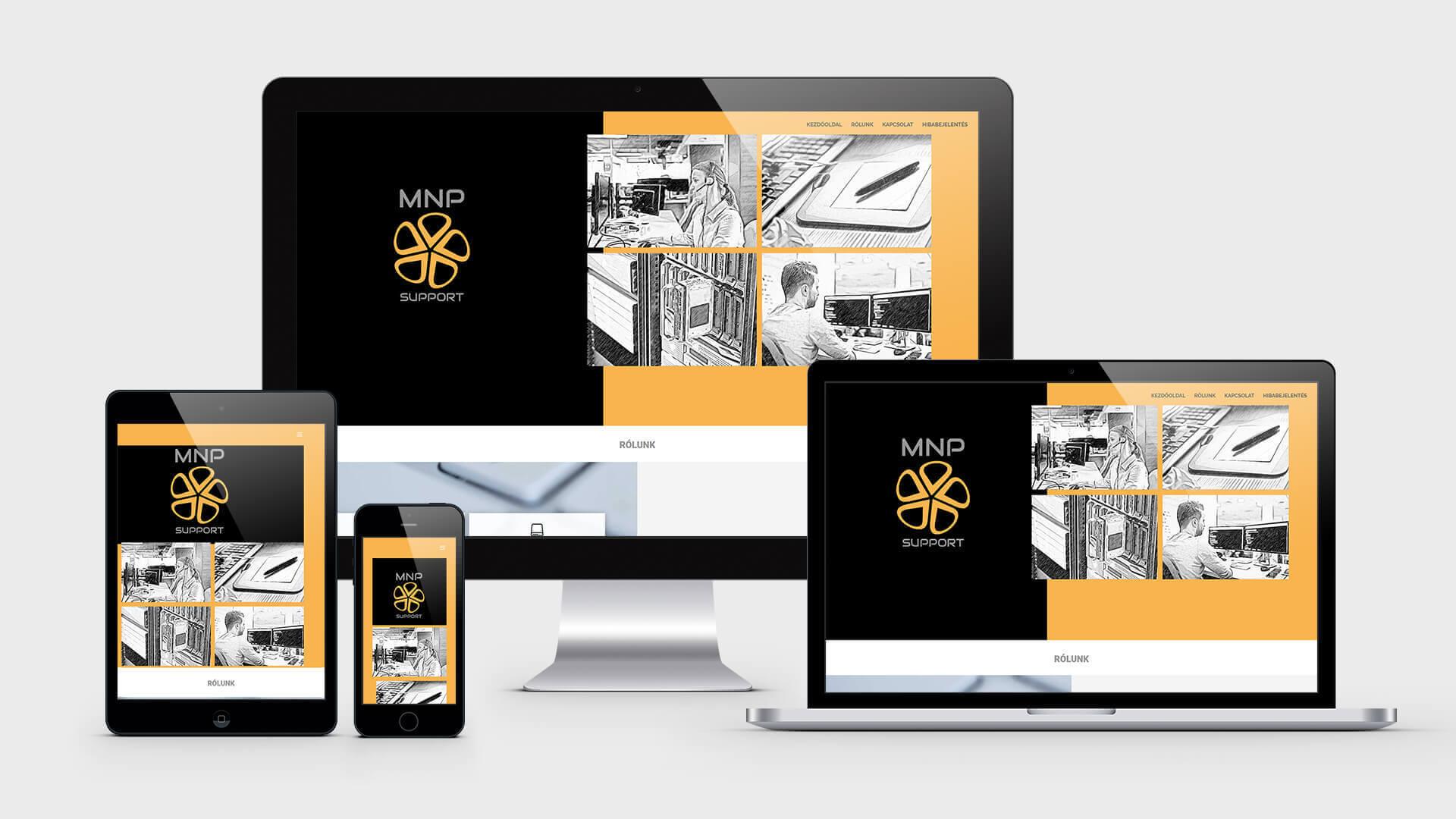 Weboldal készítés referencia - mnp-support.hu