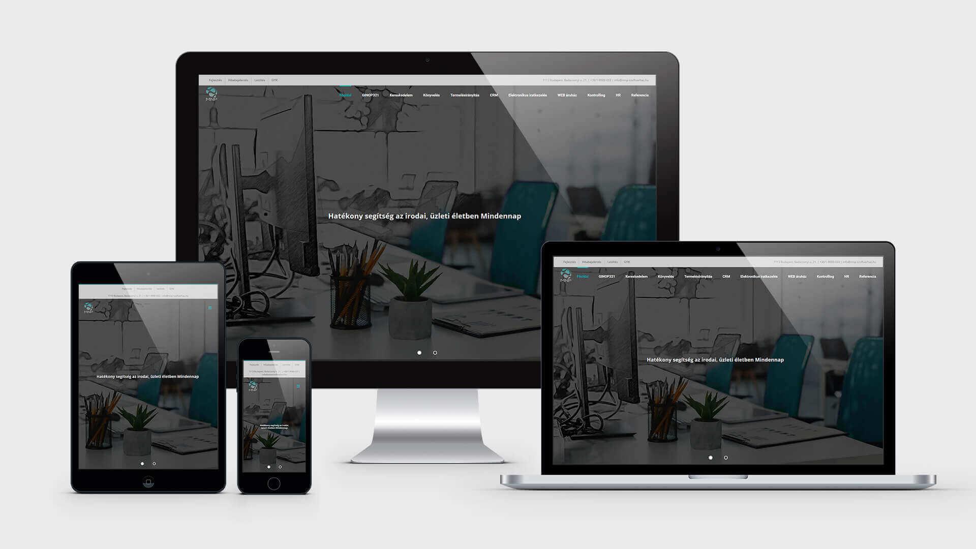 Weboldal referencia - mnp-szoftverhaz.hu